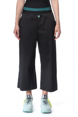 Cropped, wide-leg trousers