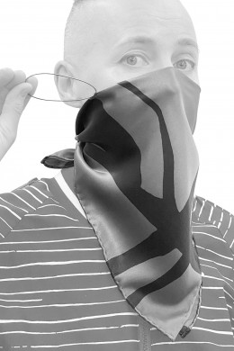 Bandana face cover with ear-loops